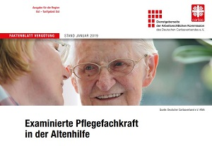 Auszug aus dem Infoblatt zur Pflegefachkraft in der Altenhilfe.