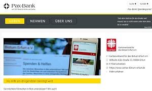 Das Spendenportal der Pax Bank