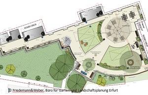 Der Entwurf der Landschaftsplaner Friedemann&Weber zum Sinnesgarten.