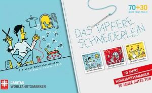 Zeichnung des Tapferen Schneiderleins auf den neuen Wohlfahrtsmarken